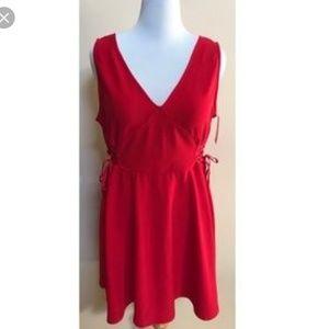 Red Xhilaration Corset Dress NWT XL